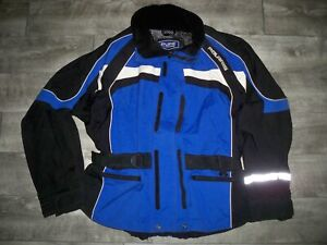Polaris Pure Blue Snowmobile Sled Insulated Racing Mens Jacket Coat Size XXLarge