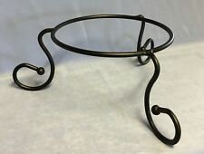 TASTE OF HOME BLACK WROUGHT IRON DRESS ME UP PLATE STAND - NEW IN BOX