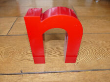 Reclaimed light up 3D shop letter 'n' red - 20cm - working - night light?