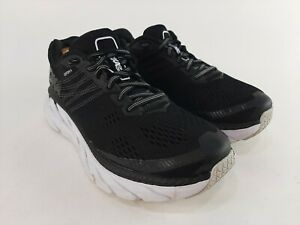 Hoka One One Clifton 6 Running Shoes Black & White Womens Size 6.5 WIDE