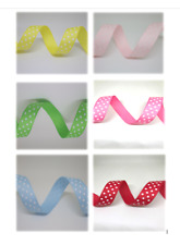 Grosgrain Polka Dot Ribbon 17mm in 2m or 5m cut lengths - free postage
