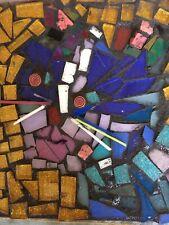 Handmade Glass Mosaic Art Cat 6�x6�