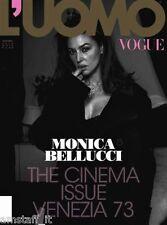 VOGUE UOMO=2016/473=MONICA BELLUCCI BY MICHEL COMTE COVER MAGAZINE + INSIDE=