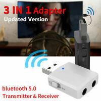 Bluetooth 5.0 Wireless Receiver Audio Adapter Transmitter 3.5mm Music AUX Car