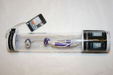 Earbud/Earphone with Mic for iPhone 3G/4, iPod (Purple)