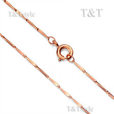 T&T 0.8mm 9K Rose Gold Filled Chain Necklace (CF118)