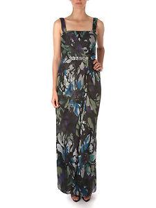 JS Boutique RRP £170 Black Green Blue White Floral Maxi Evening Party Dress UK 8