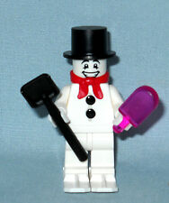 NEW LEGO CHRISTMAS FROSTY SNOWMAN MINIFIGURE, WITH POPSICLE, SHOVEL, & SKIS