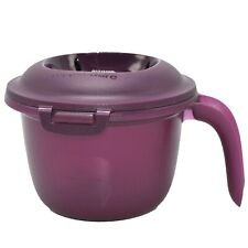 Tupperware Microwave Rice Maker Quick Cooker Steamer 2.25 cup Container Plum