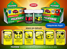 1 X PEGATANKE BLACK MARINE EPOXY GLUE / SUPER STRONG / DRIES UNDERWATER 44 CC.!!