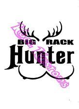 VINYL DECAL STICKER BIG RACK HUNTER...HUNTING...FUNNY...CAR TRUCK WINDOW