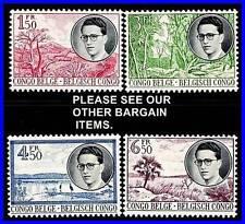 BELGIAN CONGO 1955 TROPICAL PLANTS  SC#290-93 MNH CV$56.00 ++