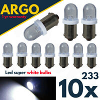 T4w Ba9s Led White 233 Bayonet T11 Car Interior Side Light Xenon Bulbs Lamps 12v