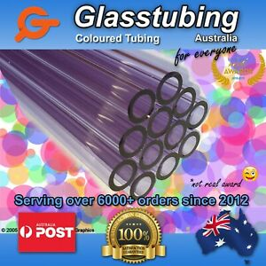 Glass Tubing  borosilicate 3.3 blowing tubes pyrex VARIOUS COLOURS - Discounted