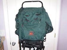 "REI Trekker Wonderland External Frame Backpack Green Hiking  14"" X 32"""