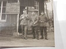 WW1 German Military Photograph RESTAURANT MENU patrons chef cook catering fun
