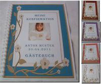 Geschenk Konfirmation Kommunion Firmung Gästebuch - 3D-Blume mit Bild