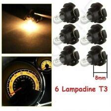 6 Lampadine T3 alogena Auto Cruscotto clima quadro Indicatore Luce interno nuove