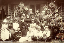 1892 Photo Members of The Romanov Imperial Dynasty of Russia at Krasnoye Selo