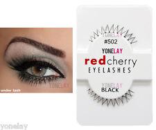 Lot 12 Pairs RED CHERRY #502 False Eyelashes Under Lash Fake Eye Lashes