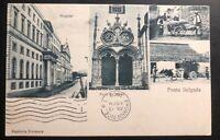 1903 Ponta Delgada Portugal RPPC Postcard Cover to Providence RI USA