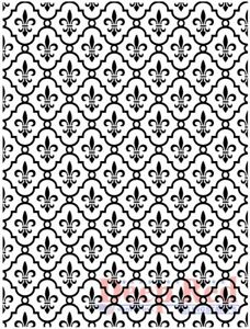Deep Red Stamps Fleur de lis Background Rubber Cling Stamp