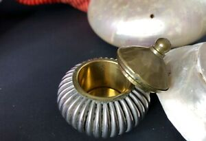 Old Local Silver + Brass Vanaty Box  (Toy And The Shells Are Not Included)