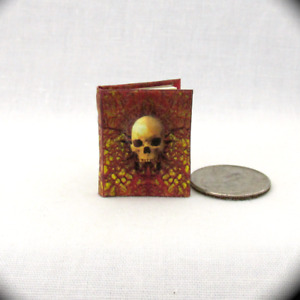 MANUAL OF SPELLS AND ALCHEMY Miniature Book Dollhouse 1:12 Illustrated Readable