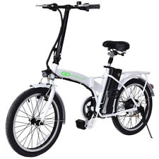 """20"""" 250W 36V Folding Electric Mountain Bicycle EBike Speed Lithium Battery White"""