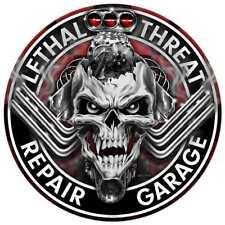 Lethal Threat V8 Engine Blower Skull Garage US Car Retro Sign Blechschild Schild