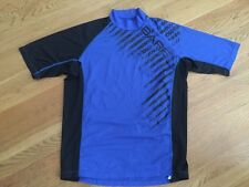 Men's Bare Rash Guard  (M) Sunguard SS Blue Shirt. EUC!