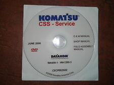 KOMATSU WA600-1 THRU WA1200-3 WHEEL LOADER SERVICE SHOP REPAIR MANUAL CD