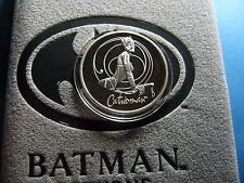 CATWOMAN BATMAN RETURNS 1992 MOVIE DC COMIC 999 SILVER COIN VERY RARE BOX #1466