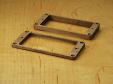 Gibson Les Paul Walnut Wood Humbucker Pickup Trim Mounting Ring Set Neck Bridge