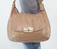 COACH KRISTIN Large Beige Leather Shoulder Hobo Tote Satchel Crossbody Purse Bag