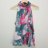 [ PORTMANS ] Womens Soft Peplum Halter Top    Size AU 12 or US 8