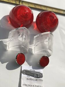 NEW COMPLETE REPLACEMENT 1956 CHEVROLET BEL AIR / 150 / 210 TAIL LIGHT LENS SET