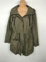 WOMENS VERO MODA BEIGE ZIP UP CASUAL LIGHTWEIGHT COAT JACKET WITH HOOD SIZE M