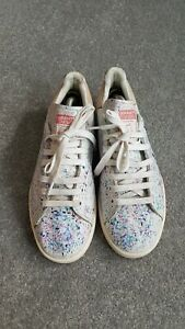 Adidas Stan Smith Paint Splattered Style Custom Painted Trainers Sneakers UK8