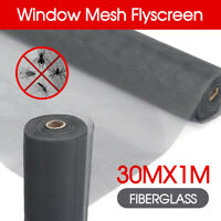 30M / 100FT Roll Insect Flywire Window Fly Screen Net Mesh Flyscreen