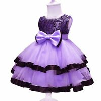 Princess baby formal dresses girl wedding bridesmaid tutu flower kid party dress