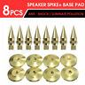 8Pcs Set M6*36 Speaker Cone Spike Isolation Stand Foot + 8 Base Pads Floor Disc
