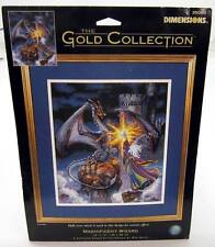 """Dimensions 35080 Gold Collection Cross Stitch Kit 12"""" x 14"""" MAGNIFICENT WIZARD !"""