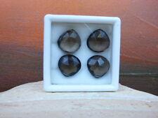 4er Set Afrika Rauch Quarz (13 x 14 x 5 mm ) 28,50 Karat - Briolett - Facettiert