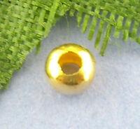 1000 Vergoldet glatt Kugel Spacer Perlen Beads 0.3cm D.