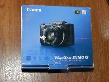 Open Box - Canon PowerShot SX160 IS 16.0 MP Camera - BLACK - 013803157215