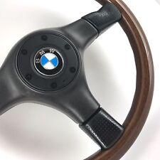 ORIGINALE Nardi legno di mogano LINEA NERA VOLANTE. BMW E30 E36 E24 E21 E9