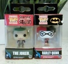 SUICIDE SQUAD Funko 2 Pop Vinyl Pocket Keychains Joker Harley Quinn Jared Leto