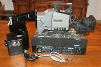 ONE IKEGAMI HL-D57W CAMERA WITH CANON YJ20 20X ZOOM LENS + MA-400 BASE STATION