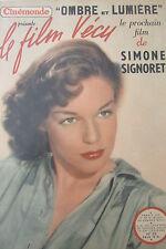 CINEMA REVUE CINEMONDE FILM VECU de 1950 SIMONE SIGNORET  OMBRE et LUMIERE